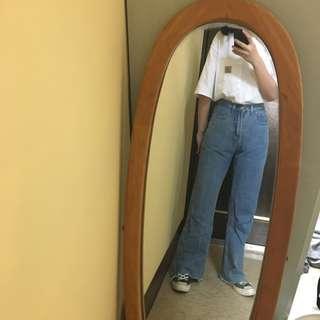 🚚 高腰 拖地 牛仔褲