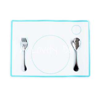 Montessori Practical Life Dining Mat with Placement Pattern and Cutlery