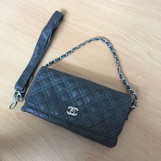 Gray Sling Bag with interchangeable straps