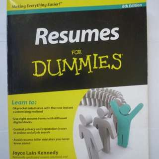 Resumes for Dummies (BOOK)