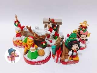 [一套出售] 迪士尼 聖誕 擺設 小熊維尼 米奇 米妮 高飛 唐老鴨