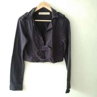 Zara TRF Crop top blazer long sleeve