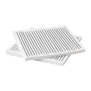 [IKEA] INBITEN Paper Napkin, white, striped 30pieces