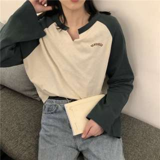 Wide Long Color Sleeves Oversized Top