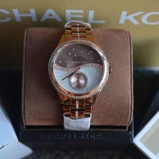 Michael Kors Lauryn Celestial Pave Sable-Tone Watch (MK3757)