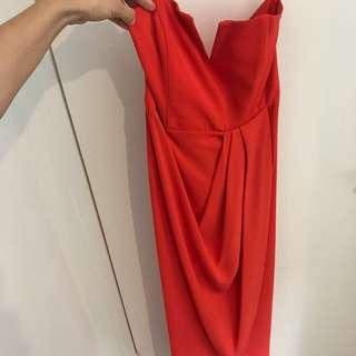 Shona joy red dress