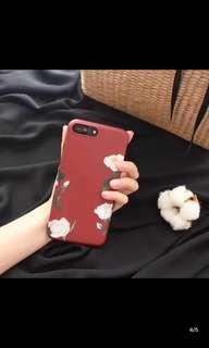 🚚 i6酒紅色山茶花手機殼 iphone6s