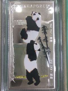 🔥Clearance🔥Singapore Mint China Panda Silver Minted Stamp $2 Year 2012