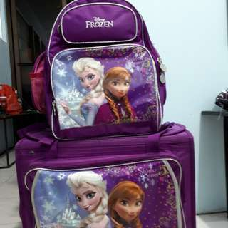 School bag (good as new) trolley and bag pack