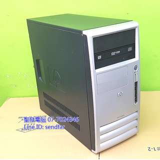 LOL全開 GTA5 天M模擬器 HP桌上型電腦 I3-3220 8G 500G 獨顯 DVD 聖發二手電腦
