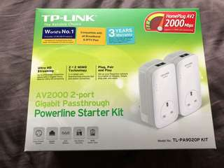 TP-Link AV2000 Powerline Starter Kit TL-PA9020P