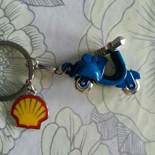 Shell motorbike keychain