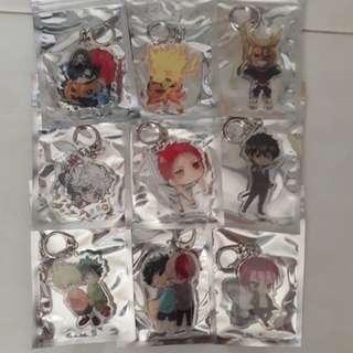 [Instock] Assorted Anime Double Sided Acrylic Keychain