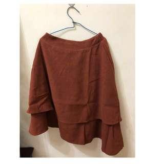 🚚 [全新]磚紅色不對稱魚尾裙❤️