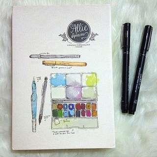 Allie Spencer Sketchbook Watercolor
