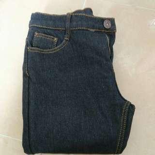 Jeans 黑色長牛仔褲 加棉 加絨 保暖