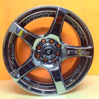 15 inch SPORT RIM ROVOS ORIGINAL SUPER BLACK CHROME