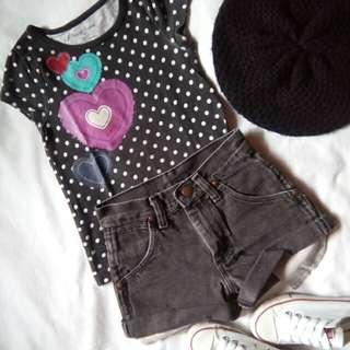FREE SF🎉🚚 Kids OOTD (Shirt & Shorts)