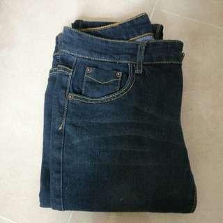 黑色 長午仔褲 jeans
