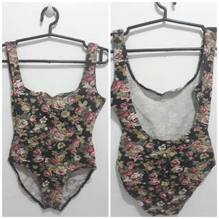 Floral Bodycon Swimsuit