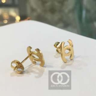 COCO PARIS - 18k Real gold Plated EARRING STUDS
