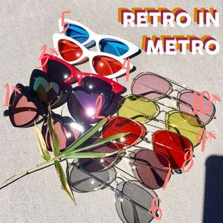 VINTAGE & RETRO SUNNIES/SHADES (EVERYTHING AVAILABLE)