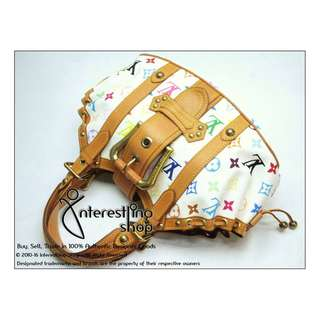 # 4620-01. Authentic Louis Vuitton Monogram Multicolor White Theda PM (NON-NEG)