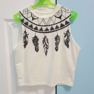 Repriced!! White Crop Top