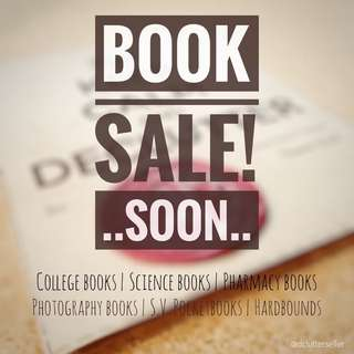 BOOK SALE! To be posted soon...