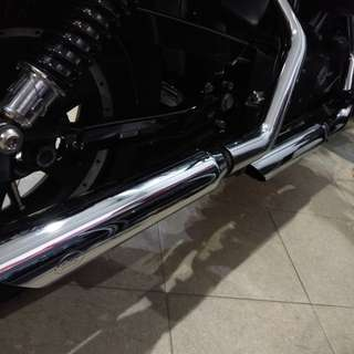 Harley Sportster S&S exhaust with headers