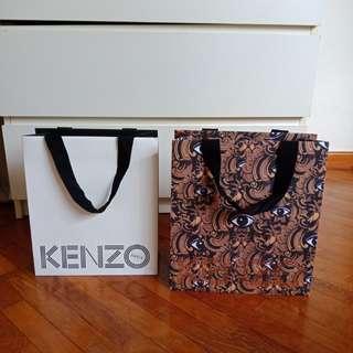 Kenzo authentic paperbag original branded paper bag