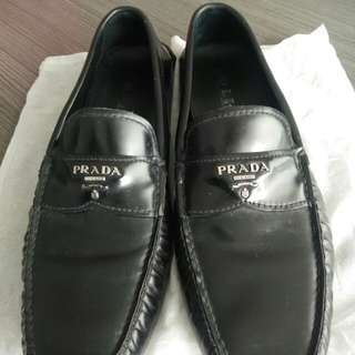 Authentic Prada Black leather shoes