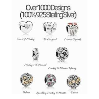 Over 1000 Designs (925 Sterling Silver) To Choose From, Compatible With Pandora, T30