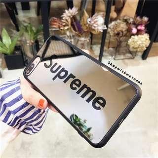 Supreme Mirror Oppo R11S plus / R11 / R9S+ / Iphone X casing