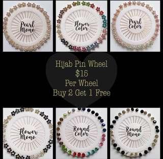 2+1 Free Instock Muslimah Hijab Pin Wheel
