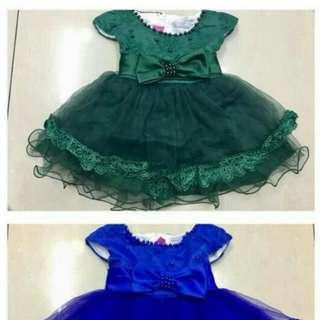 GREEN BABY GIRL PRINCESS DRESS