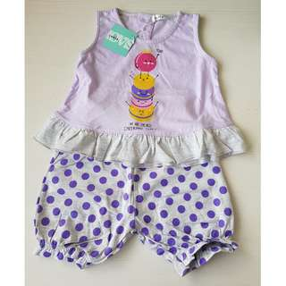 Lovis Top & Shorts Set for Girls (1 - 2Y)