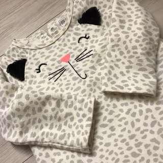 Baby Gap萬聖節限定貓咪豹紋連身套裝兔裝長袖長褲