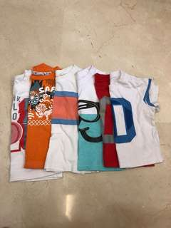 Boys Tshirt bundle 12-24mths 6pcs