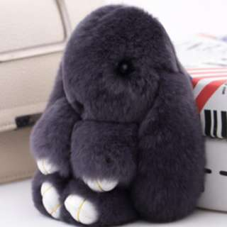 Fluffy Rabbit Keyring