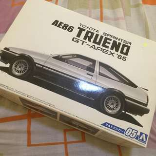 SCALE MODEL AE86 SPRINTER TRUENO AOSHIMA TAMIYA