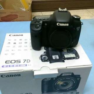 Eos 7d body only full acc box