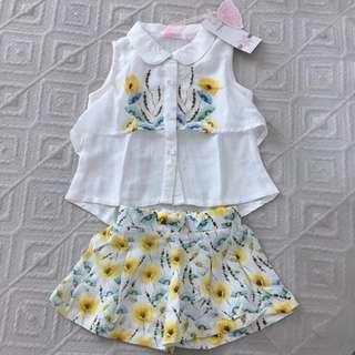 [NEW] Girl Set: Shirt + Short (import)