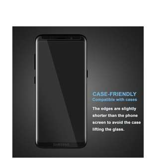 Samsung s9 / s9 Plus Full Case Friendly Tempered Glass