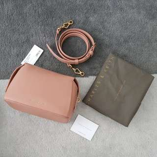 Charles & Keith Crossbody Bag in Blush