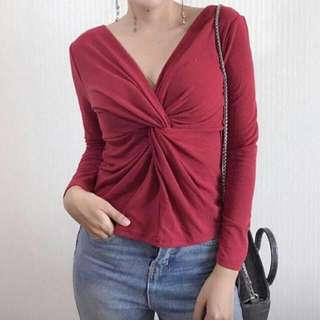Twisted Wrap Top