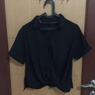 crop black top