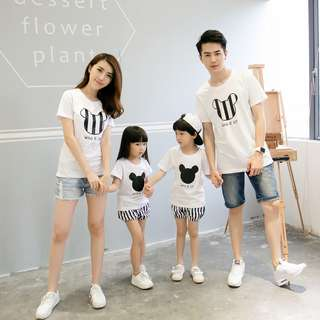 Couple / Family Matching Wear Printed Tees / T-Shirts / Shorts Clothes Set