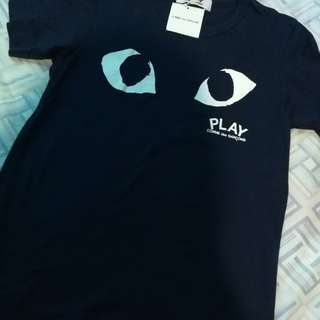 Comme des garcons play women's tshirt