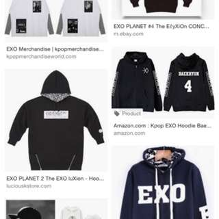 Looking for Exo/ Got7 Official hoodie / jacket / tee shirt